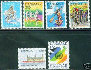 DENMARK  Scott 779-80 cpt 1985 MNH** stamps CV$5.45