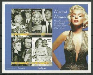 Somalia MNH S/S Marilyn Monroe 2001