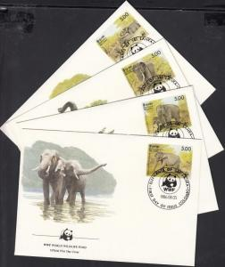 Sri Lanka stamp WWF elephants set 4 FDC Cover 1986 Mi 753-756 WS143117