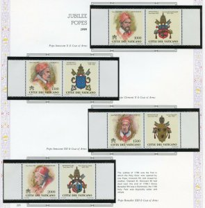 VATICAN CITY 2001  COMPLETE YEAR SET STAMPS MINT NH ON WHITE ACE ALBUM PAGES