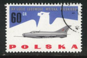 Poland Scott 1168 Used CTO jet stamp