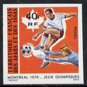 French Afars & Issas 1976 Montreal Olympics 40f Footb...