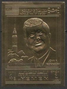 1970 Yemen Kingdom Lollini 57bgold John F. Kennedy / Apollo 11 19,00 €