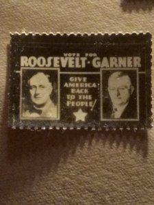 US  vote Roosevelt /Garner mint