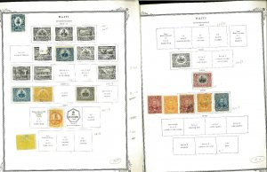 Haiti 1906-1970 M, CTO & U Hinged & in Mounts on Scott Specialty Pages