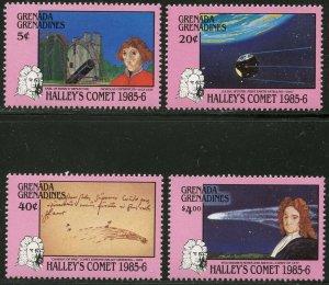 GRENADA GRENADINES Sc#744-748 1986 Halley's Comet Set & S/S Complete Mint OG NH