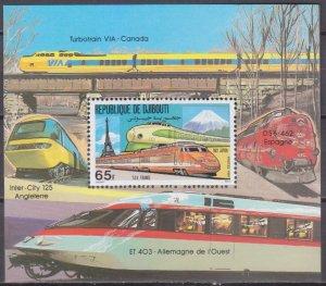 1981 Djibouti 302/B38 Locomotives 10,00 €