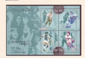 Finland Sc 957 1995 Team Sports stamp sheet mint NH