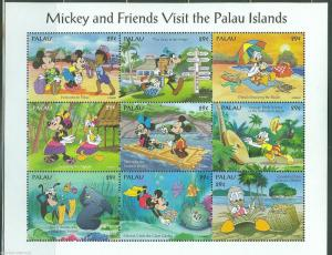 PALAU  DISNEY SCOTT#340   VISIT  TO PALAU  SHEET  MINT NH