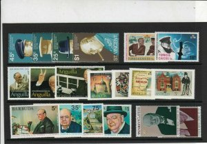 Sir Winston Churchill Mint Never Hinged Stamps - some Barbuda Ref 27082