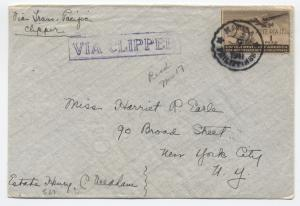 1941 Philippines clipper airmail cover 1p to US [y1789]