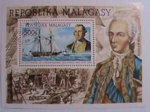 1975 REPUBLIC OF MALAGASY-GEORGE WASHINGTON SOUVENIR SHEET.