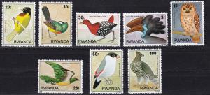 Rwanda, Fauna, Birds MNH / 1980