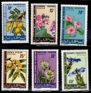 Mauritania Scott 206-211 MH* Flower stamp set