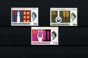 ASCENSION- 1966 - QE II - UNESCO - EDUCATION - SCIENCE - CULTURE - MINT MNH SET!