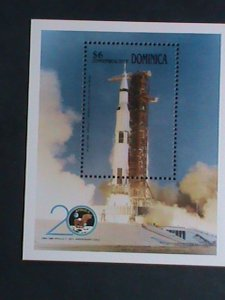 DOMINICA-1989- 20TH ANNIVERSARY-APOLLO II SPACE SHIP MNH S/S VERY FINE