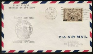FFC SHEDIAC NEW BRUNSWICK TO NEW YORK with C3 1939 (K446)