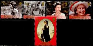 GIBRALTAR Sc#875-879 2001 QEII 75th Birthday Complete Set OG Mint NH