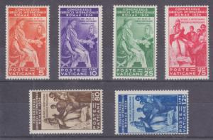 Vatican City Sc 41-46 MLH. 1935 Juridical Congress, coimplete set, fresh,