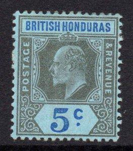 British Honduras 1902 EDVII 5c wmk crown CA SG 82 mint CV £21