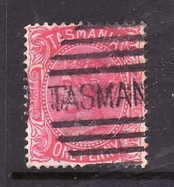Australian States-Tasmania-Sc#60- id5-used 1p QV-1878-