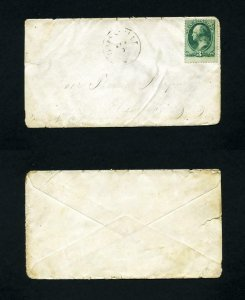 FREE SHIPPING - # 207 cover Graysville, OH, DPO, to Elizabeth, WV - 4-10-1880's