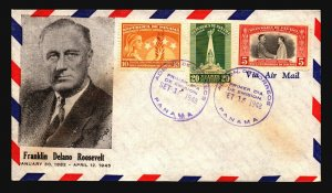 Panama 1948 FDR Series Cacheted FDC - Z18614