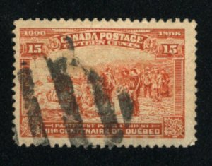 Canada #102  used   1908   PD