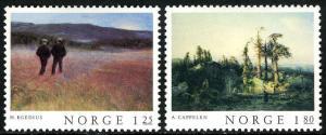 Norway 704-705, MNH. Classical paintings by Halfdan Egedius,Aygust Cappelen,1977