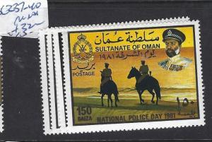 OMAN (P2802B)   SG 237-240     MNH
