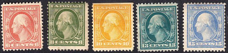 U.S. 336-340 F-VF MH (120918)