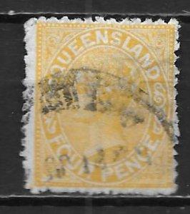 Queensland 94 1890-92 4d Used (z1)