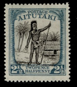 COOK ISLANDS SG32, 2½d black and dull-blue, M MINT.