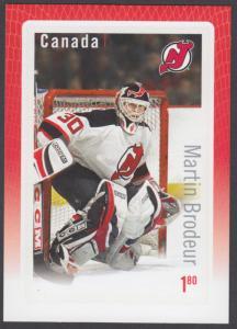 Canada - #2878 Hockey Souvenir Sheet of NHl Goalie Martin Brodeur (2015) - MNH