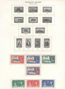 Falkland Islands Stamps 1933-37 Approx. CV. $57 (JH 9/22) GP