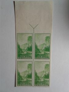 SCOTT # 756 BLOCK OF 4 MINT NEVER HINGED.ARROW LINE AND SELVAGE !! VERY NICE