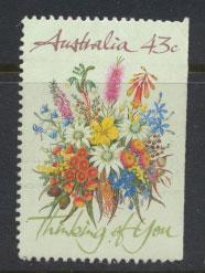 Australia SG 1231  Used imperf right margin from booklet