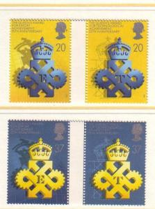Great Britain Sc 1318-21 1990 Queens Award stamp set mint NH