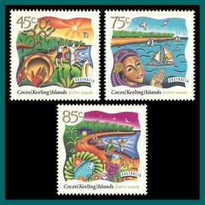 Cocos 1997 Hari Raya Puasa (Eid), MNH 323-325,SG351-SG353
