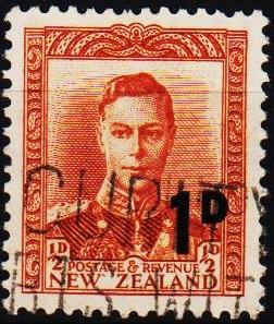 New Zealand. 1952 1d on 1/2d S.G.712 Fine Used