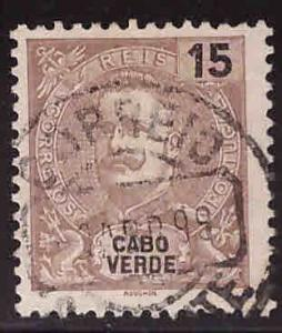 Cabo Verde Cape Verde Scott 39 Used  King Carlos stamp from 1898-1903 set