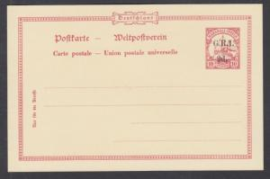 Marshall Islands, British Occupation, Mi P2 mint 1897 2p on 10pf Postal Card, VF