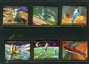 Ajman MNH Set Of 6 Space Travel 1972