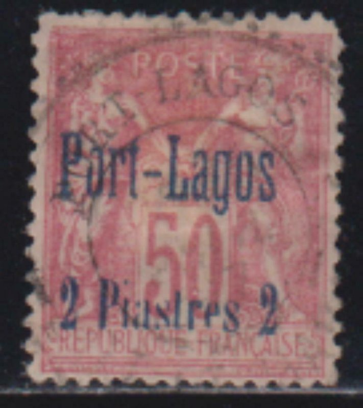 French Offices Turkey Port Lagos 1893 SC 5 USED