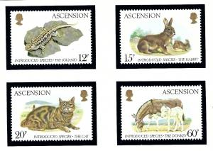 Ascension 336-39 MNH 1983 Introduced Species