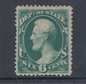 US Sc O60 MLH. 1873 6c Department of State Official