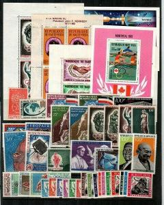 Burkina Faso - Mint (some NH)-sets & S/S - most airmails w/postage dues-CV $89