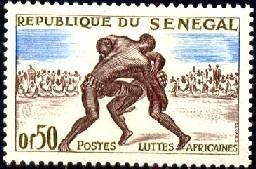Wrestling, Senegal stamp SC#202 MNH