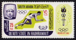 Aden Qu'aiti State Mi #106A  mnh - 1967 - 1968 Summer Olympics Mexico