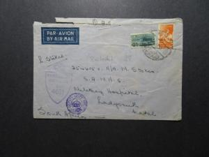 Egypt 1944 Active Service Censor Cover to South Africa / SA Postage - Z11543